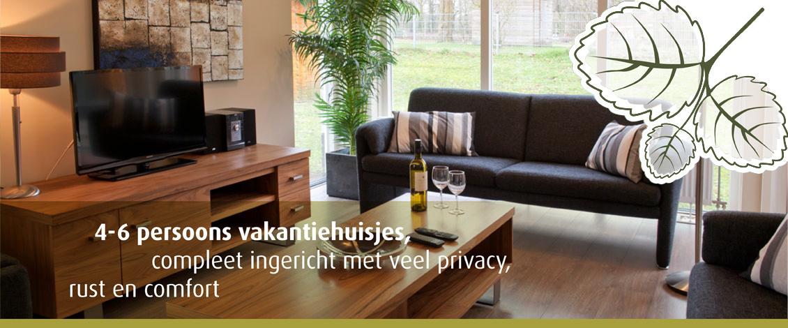 Vakantiehuisjes, compleet ingericht met veel privacy
