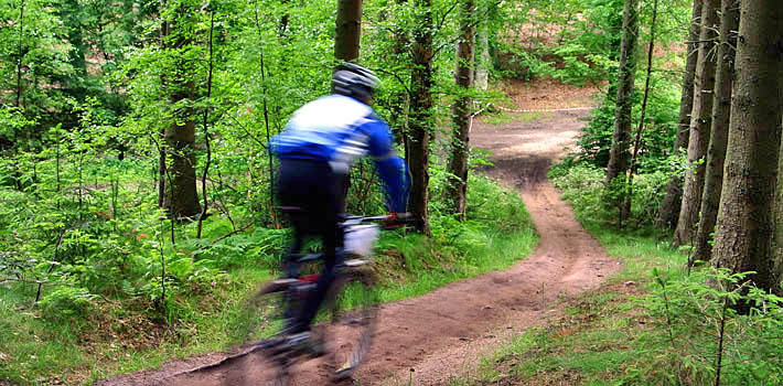 Diverse uitgestrekte mountainbike routes